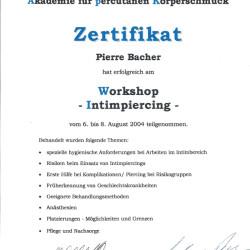 2004-08-06 Zertifikat Intimpiercing