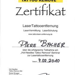 2010-02-07 Zertifikat Laser Tattooentfernung